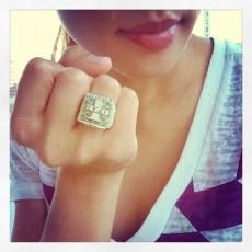 Food fashionista - origami dollar ring