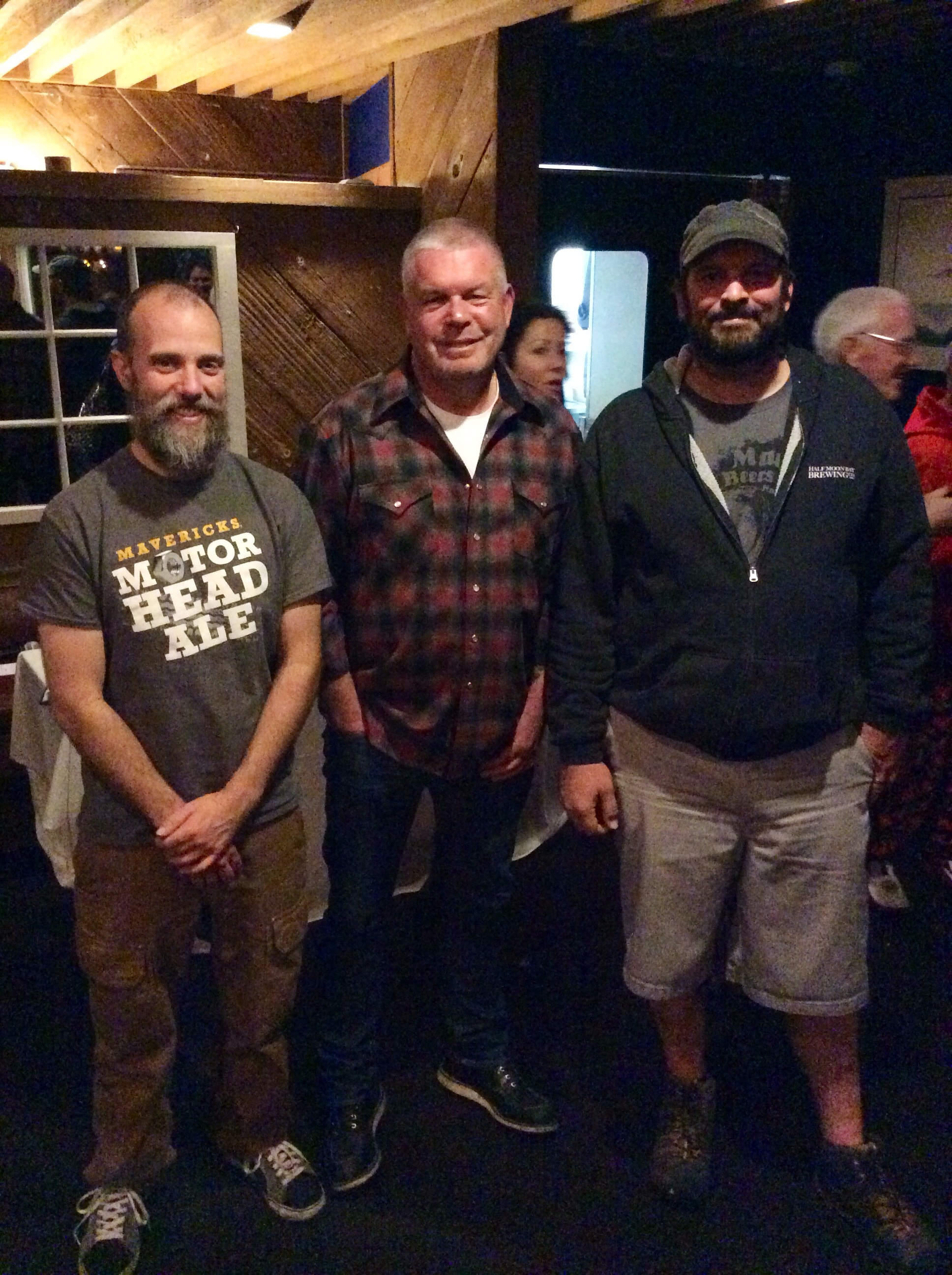 Head Brewer Shane Aldrich, Sewell Hatcher of Hatcher Winery and Brewmaster James Costa
