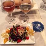Microgreen Salad with Fresh Dungeness Crab Mavericks Big Break Ale 2012 Hatcher Winery Sauvignon Blanc
