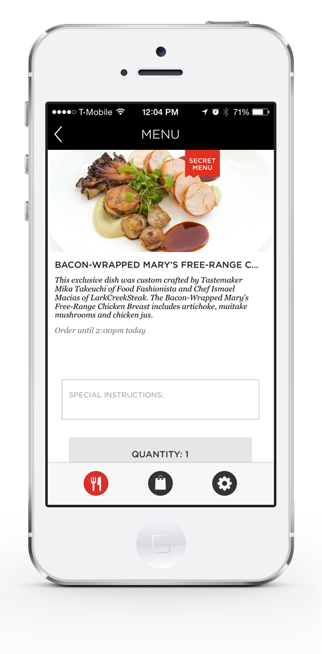 LarkCreekSteak In-App