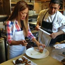 Plating with Lark Creek Steak Chef Ismael Macias