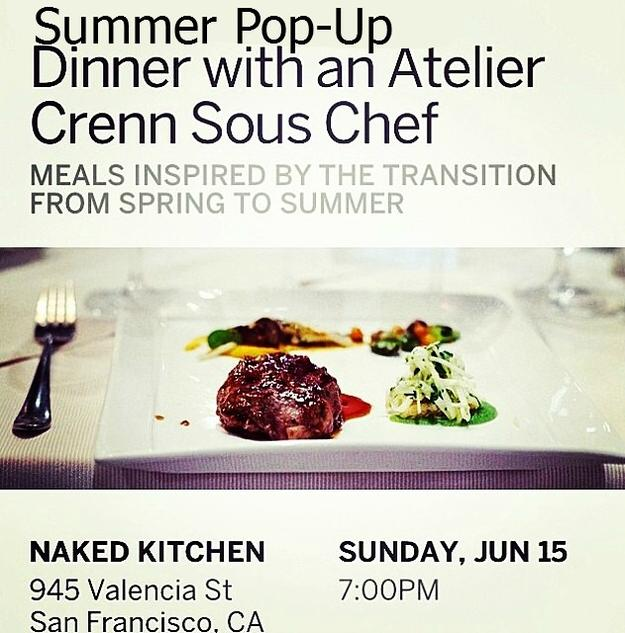 Summer Pop Up Dinner Atelier Crenn Sous Chef Brian Limoges
