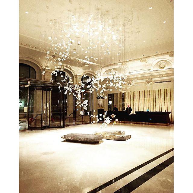 #tbt to the dreamy & ethereal @thepeninsulaparis lobby  #paris #parisjetaime #jetaimebeaucoup