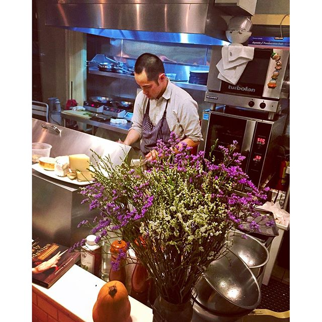 Chef Kris Toliao in the @CassavaSF kitchen. Prior to opening this restaurant, he worked with chef Dominique Crenn in SF & LA and also trained at several #Michelin-starred spots in Japan including Kikunoi... #sanfrancisco #chefstalk #thefeedfeed #richmonddistrict #tastingmenu #openkitchen