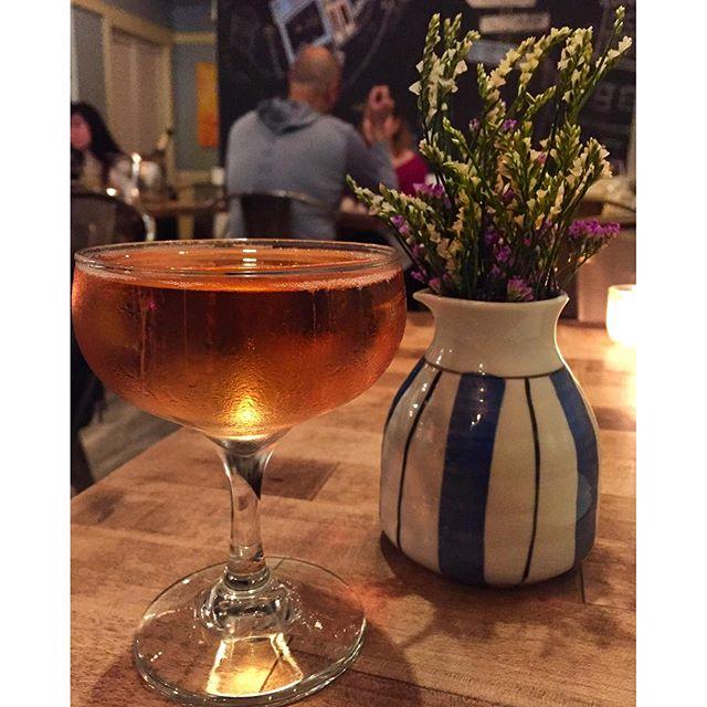 Sparkling Rosé to start chef Kris Toliao's five-course tasting menu @CassavaSF #sanfrancisco #richmonddistrict #santé #tastingmenu #chefstalk #winewednesday