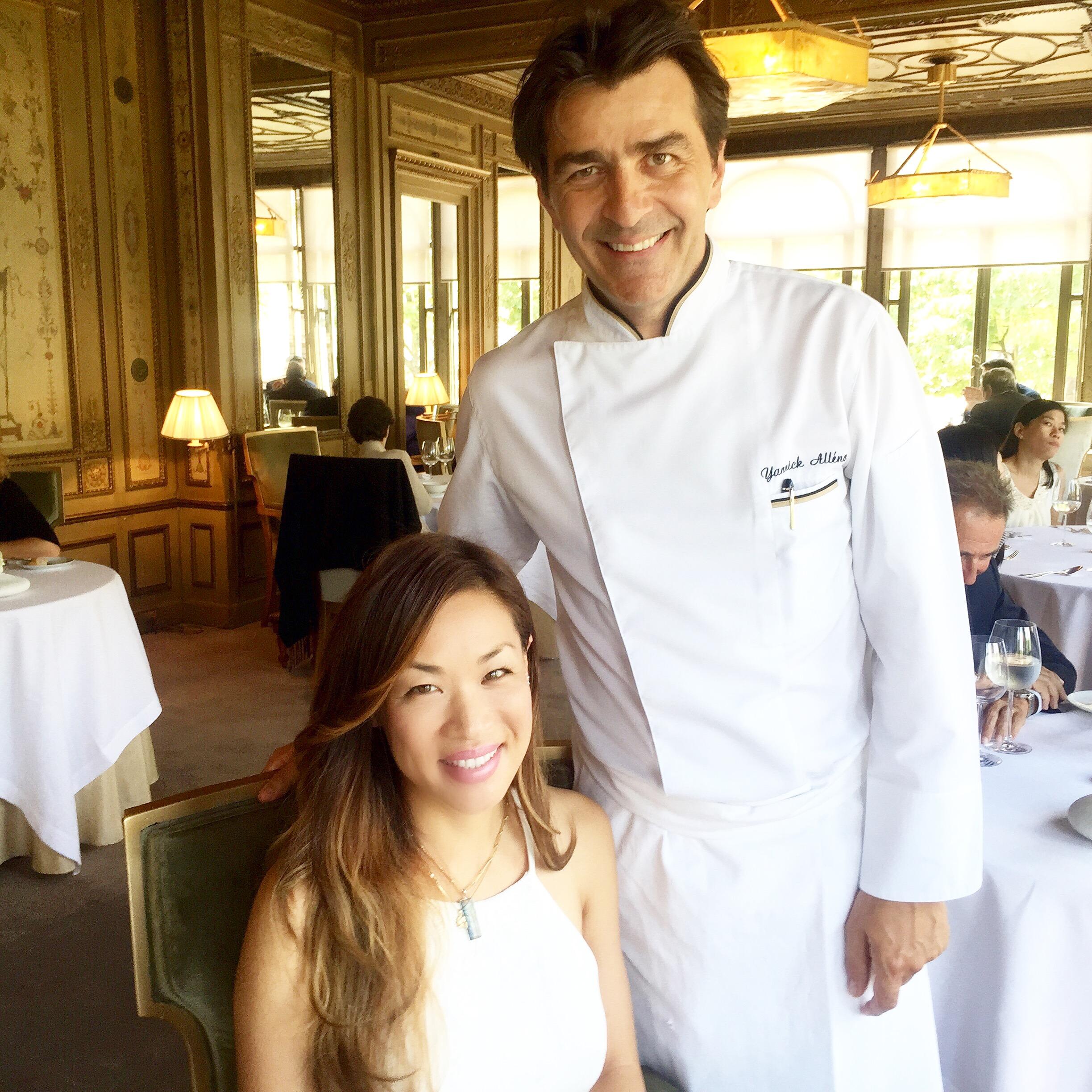 Food Fashionista Mika Takeuchi Chef Yannick Alléno Ledoyen