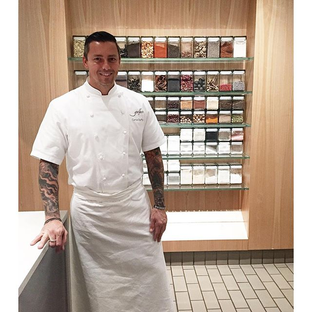 We found Chef Curtis Duffy still working in the Grace #kitchen even after the final diners of the evening took their last bite of dinner #gracerestaurant #chicago #westloop #3michelinstars #dedication