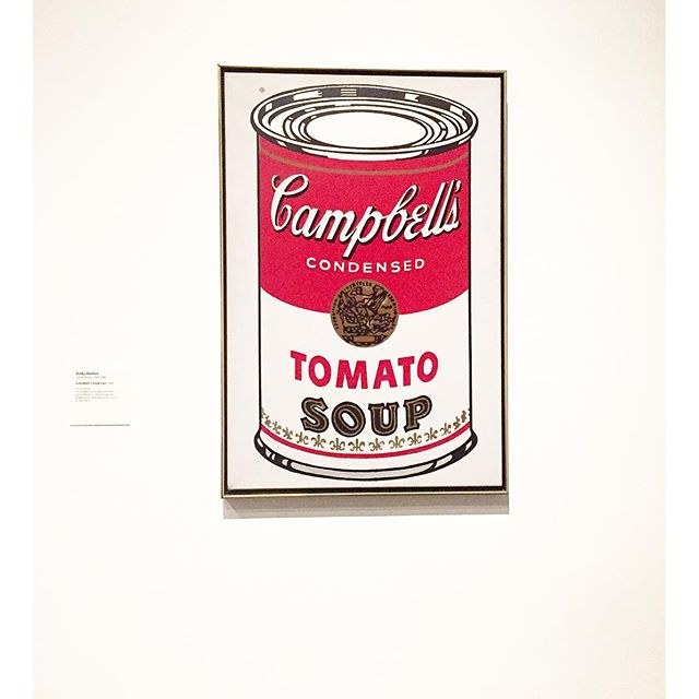 My favourite cup of Tomato Soup #andywarhol #ff #lacmaA visit to @lacma is a must while you're in #LA.