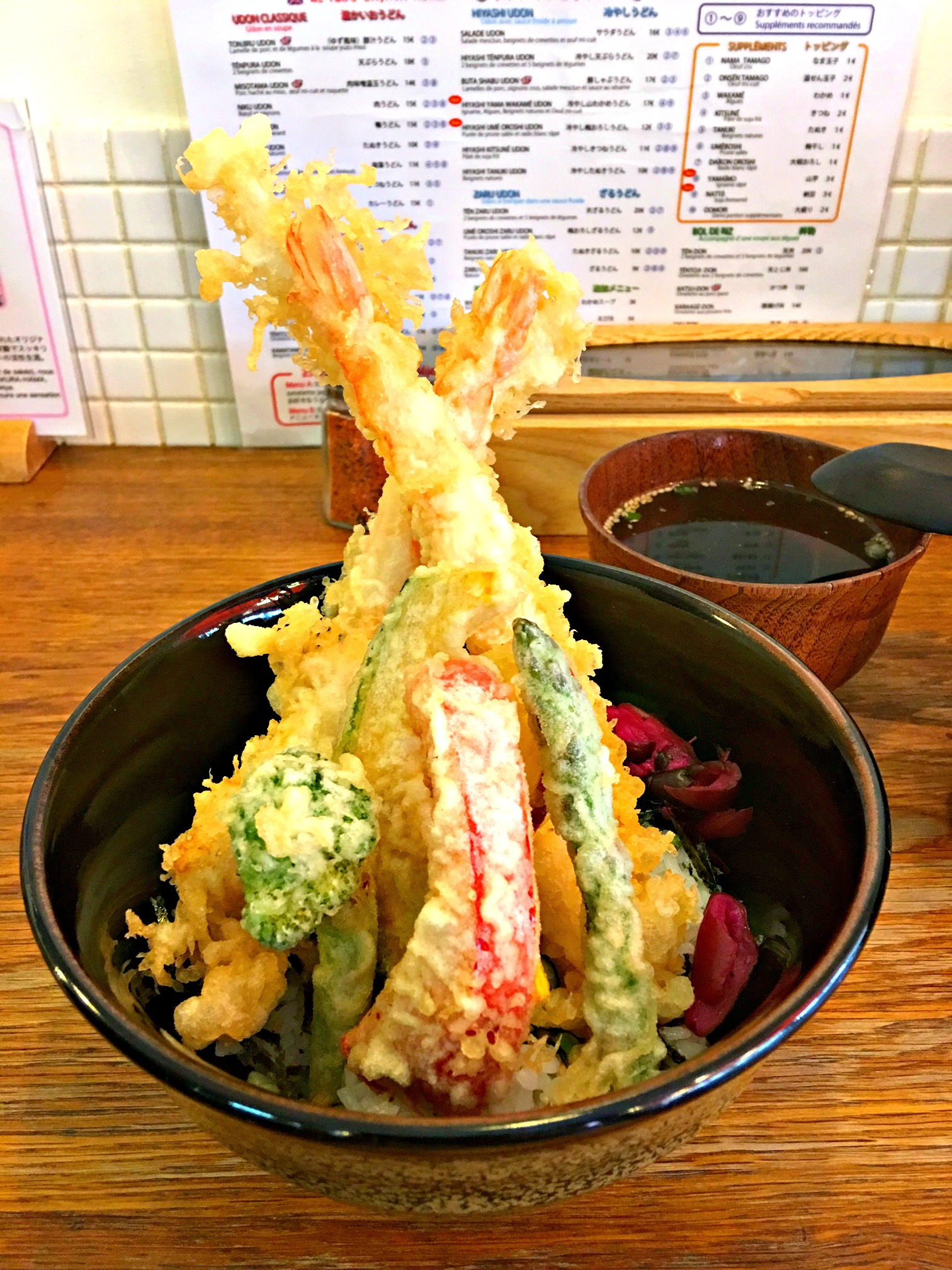 Tempura Donburi in Paris France Sanukiya