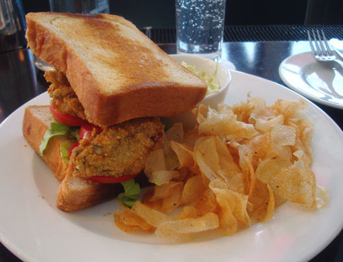 Fried Oyster Sandwich Town Hall