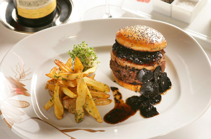 Hubert Keller Fleur Burger Truffle Foie Gras