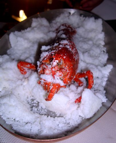 Salt Baked Lobster