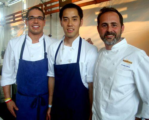Chefs Craig Stoll, Juan Contreras, Kristoffer Toliao
