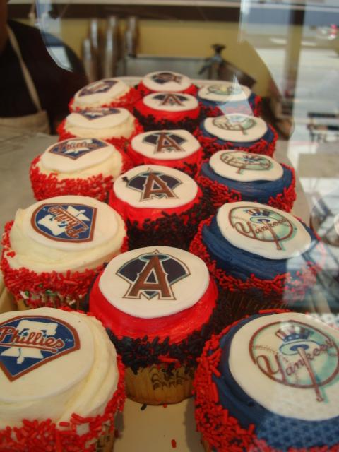 CRUMBS Baseball Cupcakes