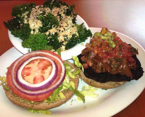 Veggie grill portobello burger