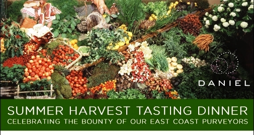 Daniel Boulud Summer Harvest Tasting