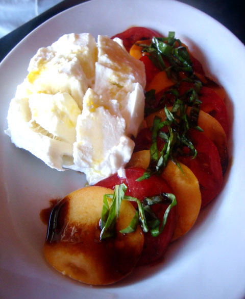 Cube Burrata Heirloom Tomato Caprese