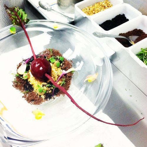 Atelier Crenn Chef Juan Contreras Beet Dessert