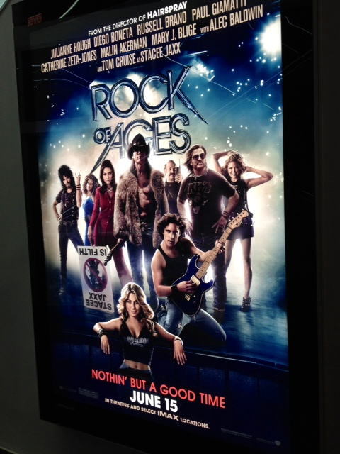 Rock of ages movie food fashionista