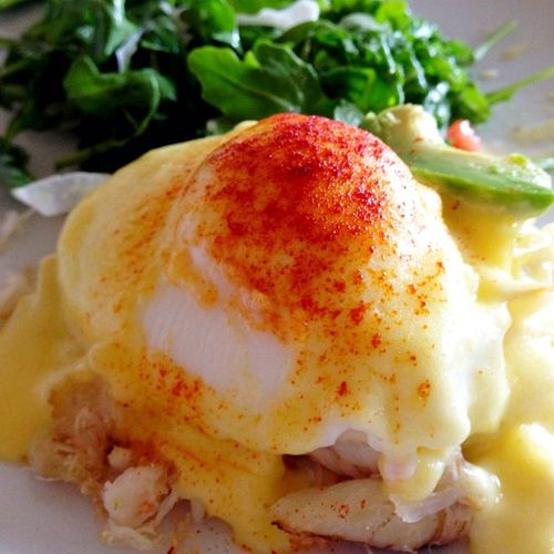 Nicks cove crab benedict - food fashionista